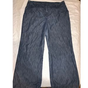 Attention Dark Wash Chambray Trouser Jeans
